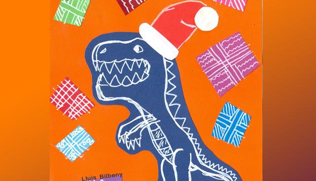 El 18 de diciembre finaliza el plazo para presentar los trabajos del concurso de tarjetas navideñas 'Los Dinosaurios y la Navidad'