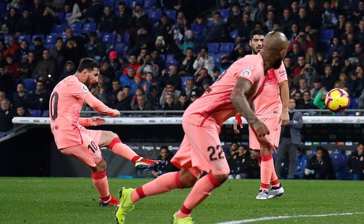 Las mejores imágenes del Espanyol-Barcelona