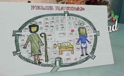 Un dibujo de una alumna de primaria protagoniza la felicitación navideña del Ayuntamiento