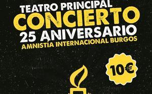 Amnistía Internacional Burgos celebra su 25 aniversario con un concierto especial