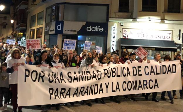 La Coordinadora por la Sanidad de Aranda anima a secundar la manifestación en Burgos