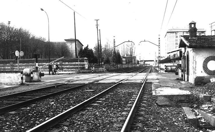 El tren a su paso por Burgos