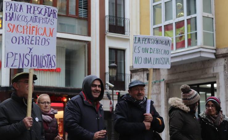 Manifestación por unas pensiones dignas de la Coordinadora Estatal en Defensa del Sistema Público de Pensiones en Burgos
