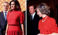 Doña Letizia luce un vestido 'vintage' de su suegra