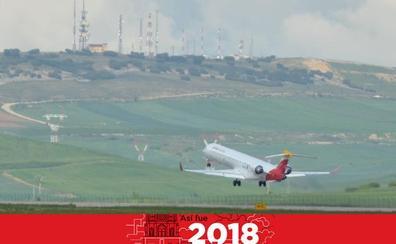 [JUNIO] El aeropuerto de Villafría volvió a levantar el vuelo