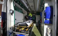 Trata de robar una botella de oxígeno de una ambulancia mientras los sanitarios atendían una emergencia en Palencia