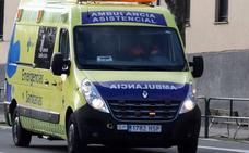 Ocho heridos, cinco de ellos menores, en el vuelco de una furgoneta en la AP-1 en Briviesca