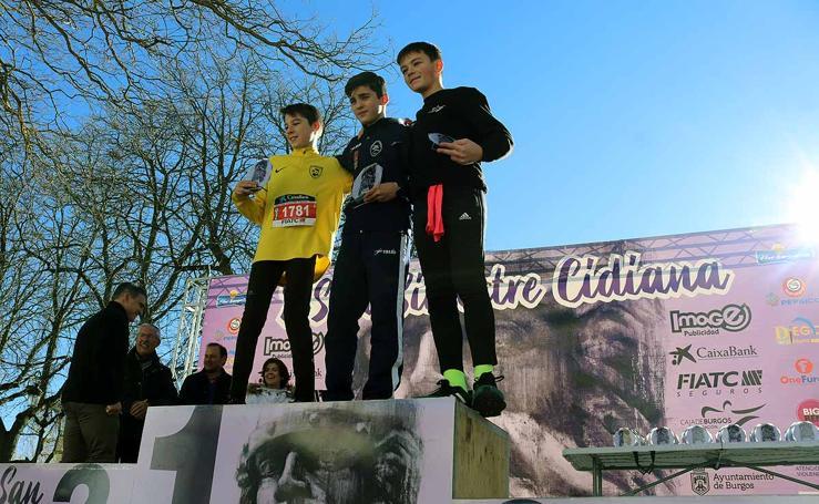 Los grandes vencedores de la XXIX San Silvestre Cidiana infantil