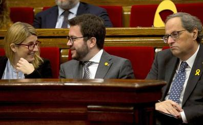 Aragonès y Artadi se desmarcan del duro discurso de Torra de fin de año