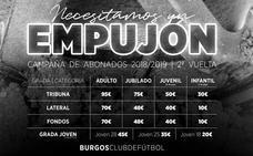 El Burgos CF lanza su campaña de abonados para la segunda vuelta