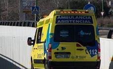 Herido un motorista de 60 años en un accidente de la calle San Pedro de Cardeña