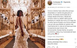Lovely Pepa desvela el nombre del diseñador de sus vestidos de novia