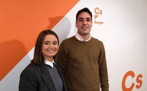 Álvaro Sánchez Peraita y Sonia Lomas, nuevos miembros de la Junta Directiva de Cs en Burgos