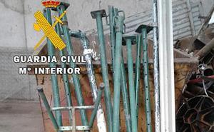 La Guardia Civil de Burgos investiga a una persona por hurto de material de obra