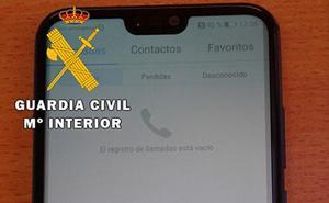 La Guardia Civil recupera un teléfono móvil sustraído en unas piscinas de La Bureba