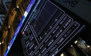 El Ibex-35 se aferra a los 9.000 puntos en una nueva sesión a la baja