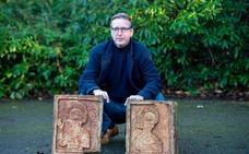 El 'Indiana Jones' del arte recupera dos sillares robados de la ermita de Quintanilla de las Viñas