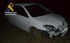 Un conductor choca contra una señal de tráfico en el Alfoz de Burgos
