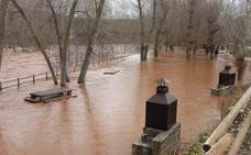 El caudal del río Arlanza desciende paulatinamente