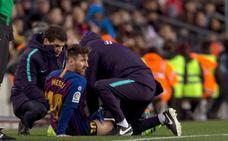 Alarma por Messi, duda ante el Real Madrid