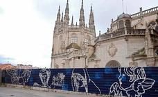 La Catedral, protegida por un mural durante la restauración del trasaltar