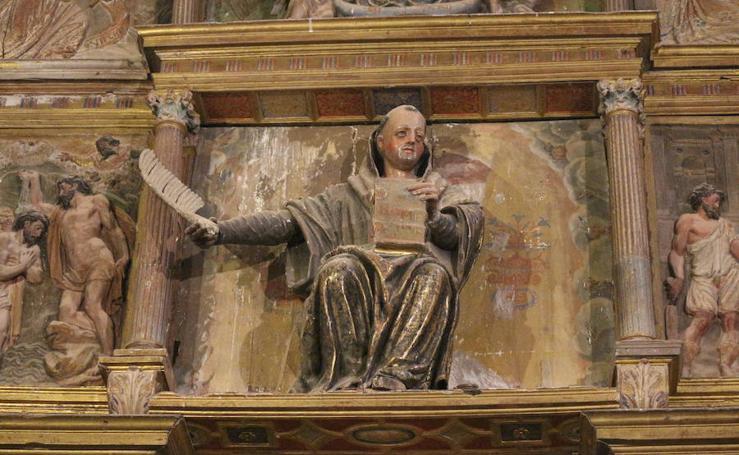 Estado actual del retablo mayor de la iglesia de San Román de Quintanilla de Riofresno