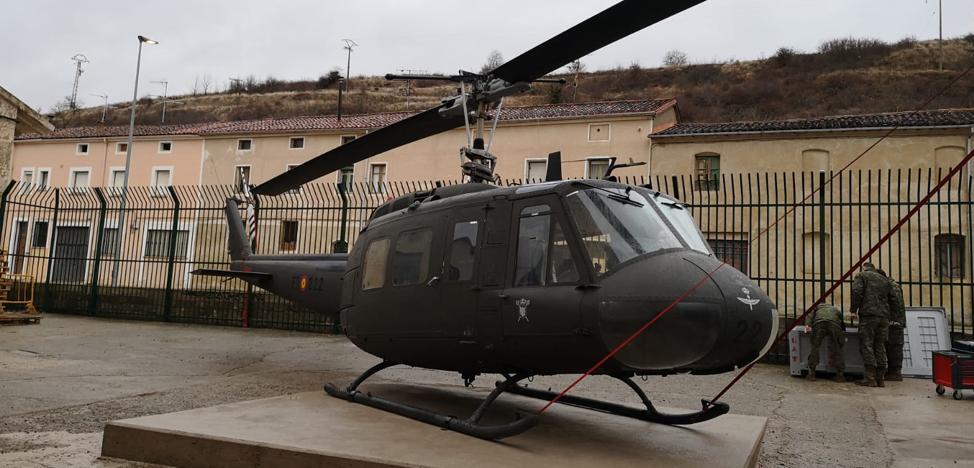Un helicóptero para ayudar en el despegue del museo de Belorado