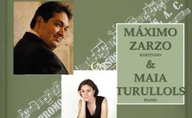 Masterclass del barítono Máximo Zarzo y la pianiasta Maia Turullols el sábado, 9 de febrero