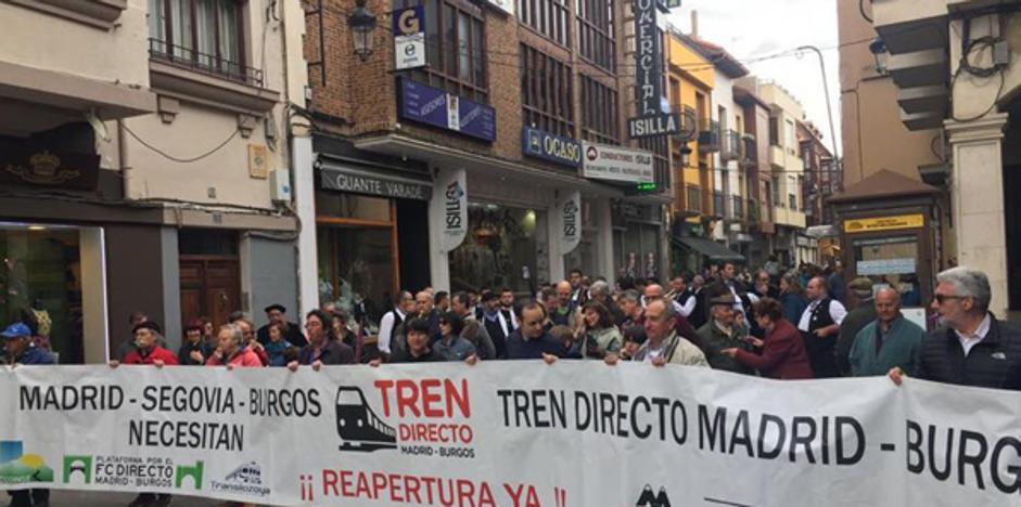 La Plataforma por el Directo retoma sus manifestaciones por la reapertura de la línea