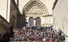 La Catedral de Burgos acoge una exposición de arcos ojivales elaborados por más de 350 alumnos de colegios de la ciudad