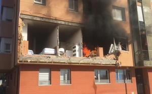 Imágenes de la explosión en la Barriada San Juan Bautista