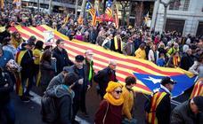 La manifestación contra el juicio del 'procés', en imágenes