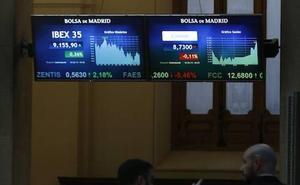 El Ibex-35 cierra a la baja pero aguanta sobre los 9.100 puntos