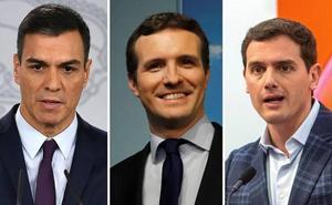 Rivera es el líder con mejor valoración, seguido de Casado y Pedro Sánchez aunque ninguno aprueba