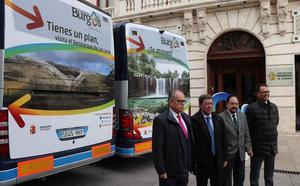 La provincia de Burgos se promociona en la ruta de autobús entre Madrid y País Vasco