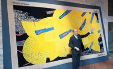 El Parador de Lerma acoge una exposición de la Real Fábrica de Tapices con obras de artistas españoles y japoneses