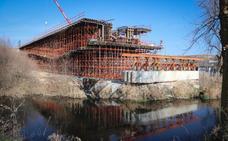 El viaducto del Ave en Frandovínez no acabará hasta «finales de primavera»