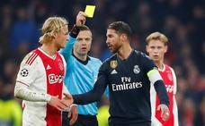 La UEFA castiga con dos partidos a Sergio Ramos