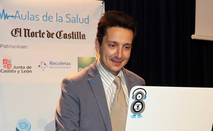 Daniel de Luis Román, en las Aulas de la Salud de El Norte de Castilla