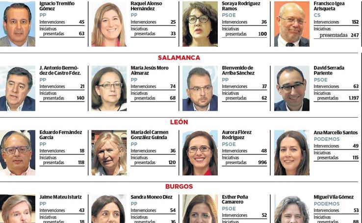 Balance de la actividad de los diputados por Castilla y León 1
