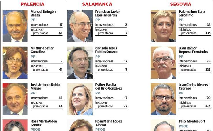 Actividad parlamentaria de los senadores de Castilla y León 2