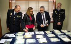Detienen a dos hombres e incautan 16 kilos de droga en una lonja «guardería» de Aranda