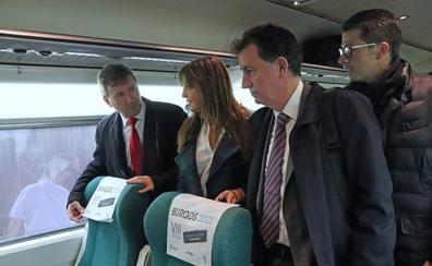 560 trenes de la zona norte promocionan Burgos y el VIII Centenario durante el mes de marzo