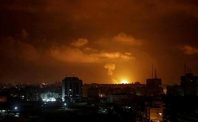 Primer viernes sin protestas en Gaza tras una noche de cohetes y bombardeo