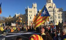 La marcha independentista en Madrid, en imágenes