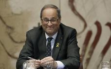 Torra desoye a la junta electoral y decide mantener el lazo amarillo