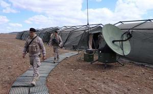 El Ejército entrena en Burgos la evacuación de personal civil en zonas de conflicto