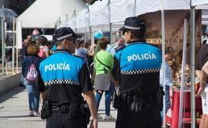 La Policía Local denuncia a un joven tras sorprenderlo realizando un grafiti en Burgos