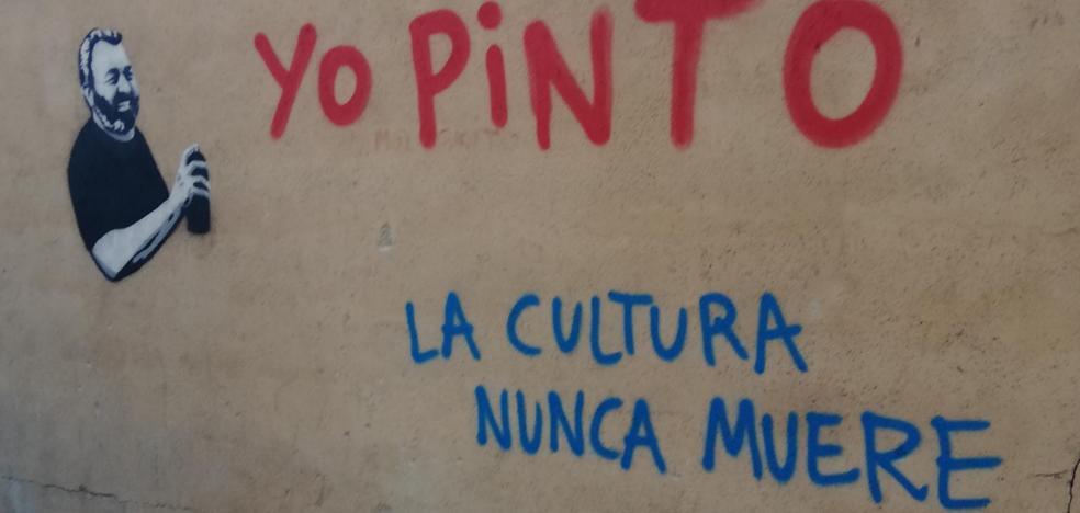 Homenaje a José Pinto en forma de grafitti en Ciudad Rodrigo