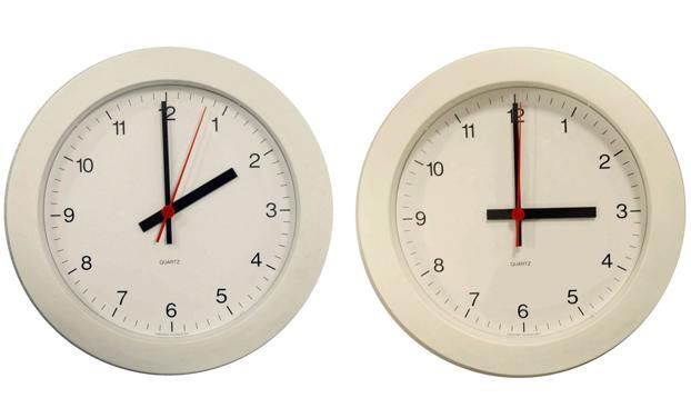 En la madrugada del domingo 31 de marzo, a las dos de la mañana serán las tres./EFE